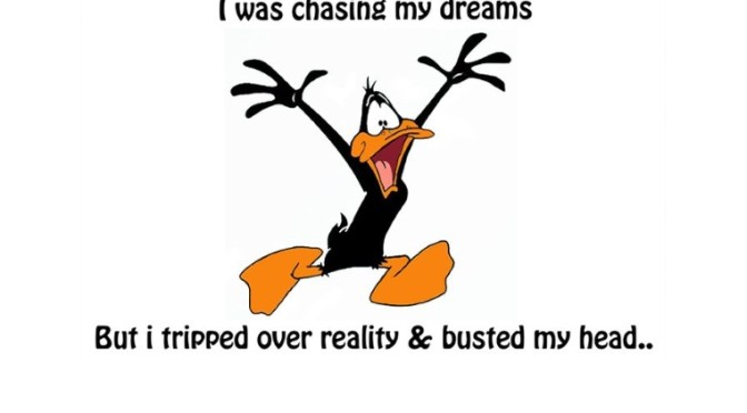 Daffy Duck Chasing Dreams