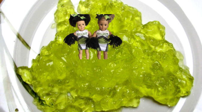 Lime jelly cheerleaders